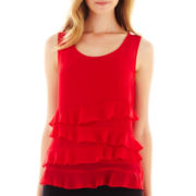 Liz Claiborne Ruffled Tank Top - Tall