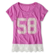 Ransom Girl™ Lace-Trim Tee - Girls 7-16