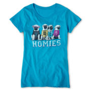 Pugs and Homies Tee - Girls 7-16