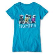 Pugs and Homies Tee - Girls 7-16