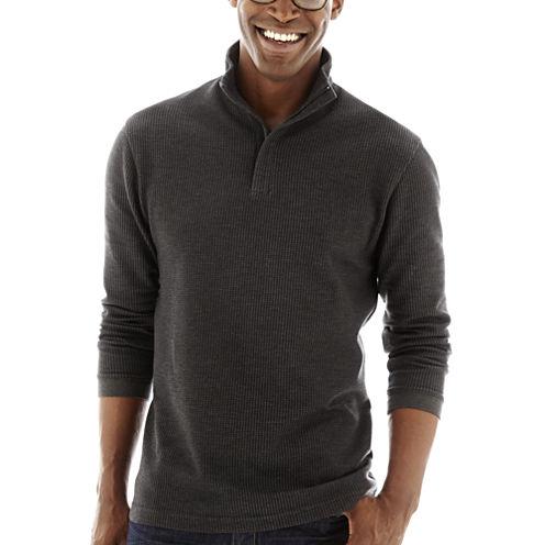 Haggar® Houndstooth Quarter-Zip Pullover