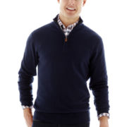 St. John's Bay® Fine-Gauge Quarter-Zip Sweater