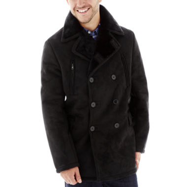 jcpenney.com | Excelled® Faux-Shearling Pea Coat