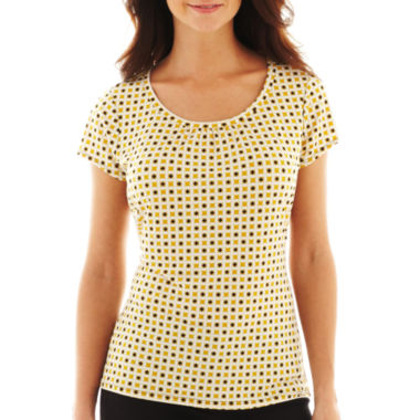 jcpenney.com | Worthington® Short-Sleeve Print Scoopneck Top