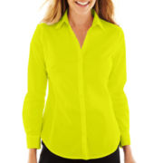 Worthington® Essential Long-Sleeve Button-Front Shirt - Tall