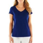 Liz Claiborne Short-Sleeve V-Neck Sleep Tee
