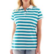 Liz Claiborne Short-Sleeve Polo Shirt - Plus