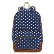 Olsenboye® Polka Dot Glitter-Trim Backpack