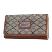 nicole by Nicole Miller® Michelle Jacquard Flap Wallet