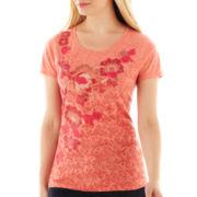 St. John's Bay® Short-Sleeve Burnout Graphic T-Shirt
