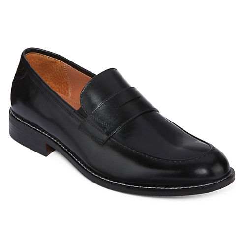 Stafford® Allen Mens Leather Dress Loafers