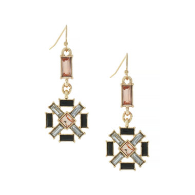 jcpenney.com | nicole by Nicole Miller® Gold-Tone Flower Earrings