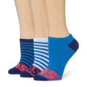 adidas® 3-pk. Adi Stripe No Show Socks