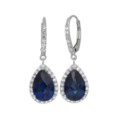 jcpenney.com | Lab-Created Blue Sapphire & White Sapphire Sterling Silver Earrings