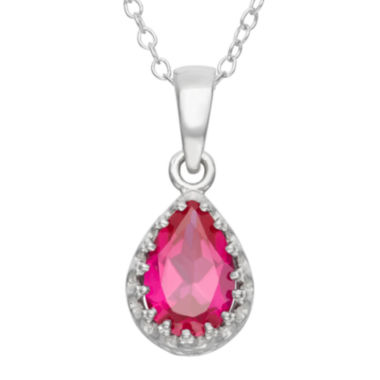 jcpenney.com | Lab-Created Ruby Sterling Silver Pendant Necklace