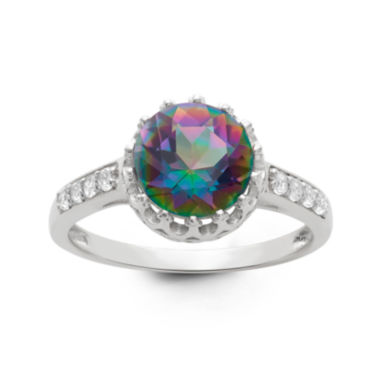 jcpenney.com | Genuine Mystic Green Topaz Sterling Silver Ring