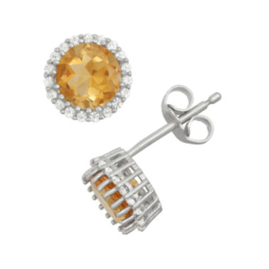 jcpenney.com | Genuine Citrine & Lab-Created White Sapphire Sterling Silver Earrings