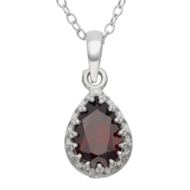 jcpenney.com | Genuine Garnet Sterling Silver Pendant Necklace