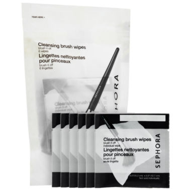 jcpenney.com | SEPHORA COLLECTION Brush It Off Cleansing Brush Wipes