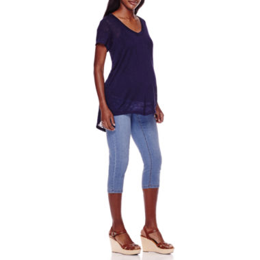 jcpenney.com | Maternity Short-Sleeve Burnout Tee or Crop Pants