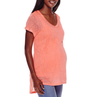 jcpenney.com | Maternity Short-Sleeve Burnout Tee