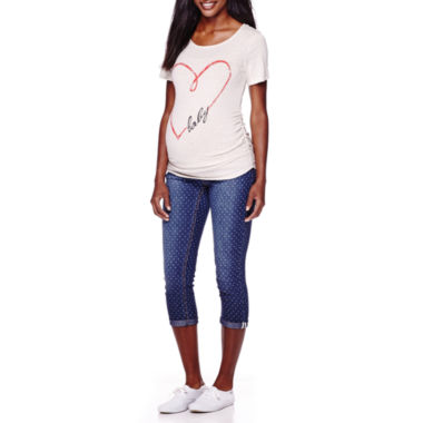 jcpenney.com | Maternity Heart Graphic Tee or Capris