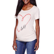 Planet Motherhood Maternity Heart Baby Graphic Tee