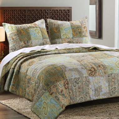 jcpenney.com | Greenland Home Fashions Paisley Dream Quilt Set