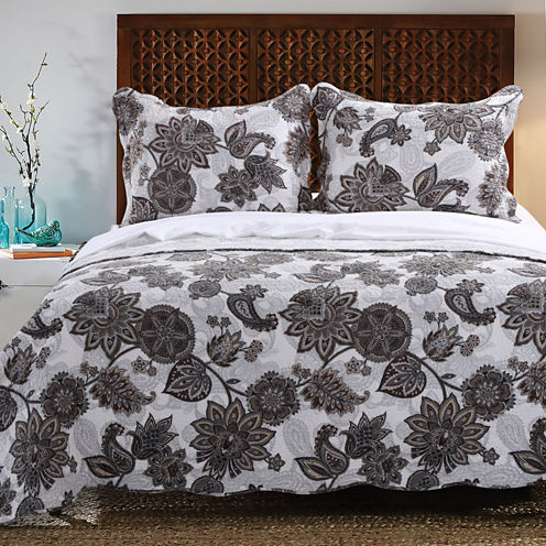 Greenland Home Fashions Jacobean Paisley Quilt Set