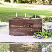 Personalized Rustic Candle Holder