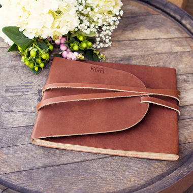 jcpenney.com | Personalized Leather Guest Book Journal