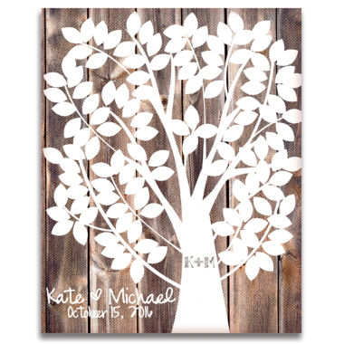 jcpenney.com | Our Family Tree Canvas Guest Book