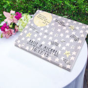 To the Moon and Back Canvas Guest Book