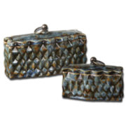 Set of 2 Neelab Decorative Boxes