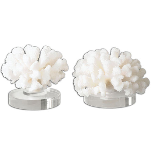 Coral Set of 2 Tabletop Accessories