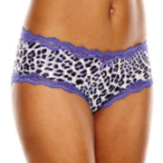 Ambrielle® Sheer Striped Hipster Panties