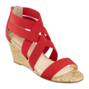 Liz Claiborne® Rockele Stretch Wedge Sandals