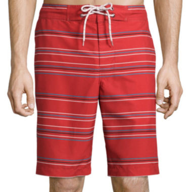 jcpenney.com | St. John's Bay® Patterned Microfiber Swim Trunks