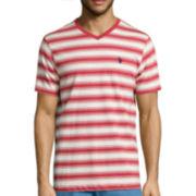 U.S. Polo Assn.® Short-Sleeve Striped V-Neck Tee