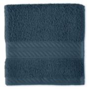 Royal Velvet® Egyptian Cotton Black Washcloth