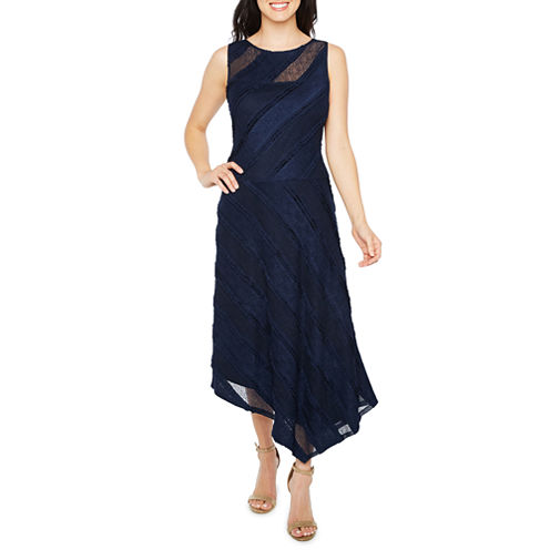 Melrose Sleeveless Stripe Fit & Flare Dress