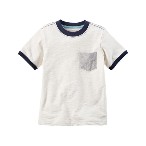Carter's Short Sleeve Pocket T-Shirt-Baby Boys