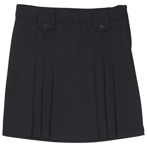 French Toast Woven Pleated Skirt - Preschool Girls
