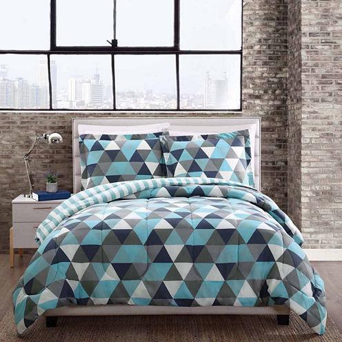 Style 212 Madison Triangles Reversible Comforter Set