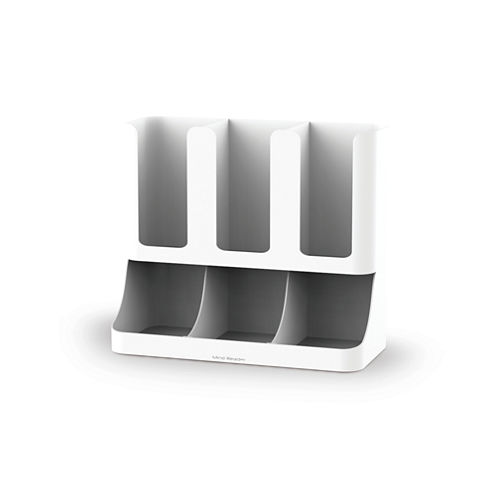 Mind Reader 6-Compartment Upright Coffee, Condiment, And Cups Organizer