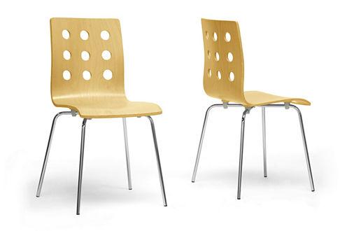 Baxton Studio Celeste 2-pc. Side Chair