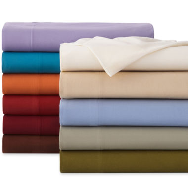 jcpenney.com | Micro Flannel® Solid & Print Sheet Sets