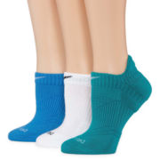 Nike® 3-pk. Dri-FIT Cushion No-Show Socks