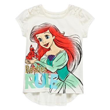 jcpenney.com | Disney Apparel by Okie Dokie® Short-Sleeve Princess Tee - Toddler Girls 2t-5t