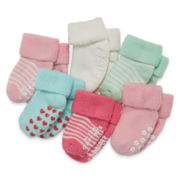 Carter's® 6-pk. Multicolor Terry Socks - Baby Girls newborn-24m